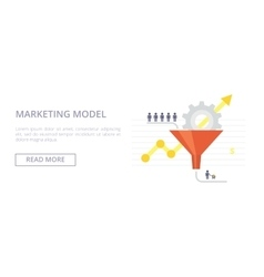 Marketing Model flat Concept vector image vector image