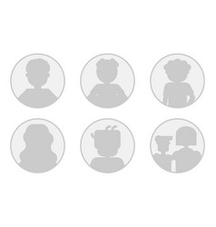 monochrome six avatars - men woman and family vector image vector image