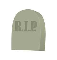 Monument on grave icon cartoon style vector image vector image