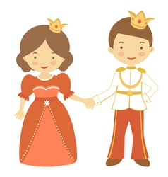 Prince and princess2 vector