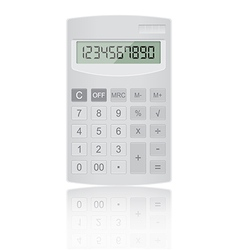 Realistic calculator vector image vector image