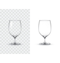 realistic wine glasses vector image vector image