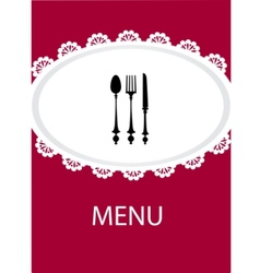 restaurant menu design with table utensil vector image vector image