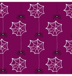 Seamless pattern halloween spiderweb vector