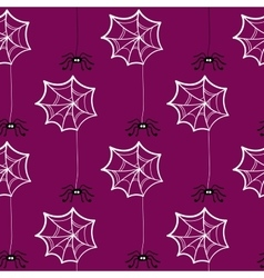 Seamless Pattern Halloween Spiderweb vector image vector image