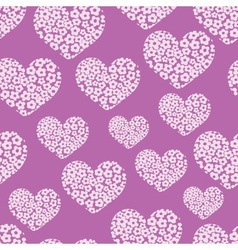 seamless pattern with heart of flowers vector image
