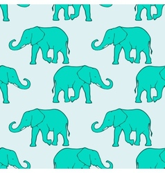 Seamless pattern with ilhouette elephants vector image vector image