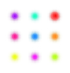 Set of Circle Colorful square Dot Banners Noisy vector image vector image