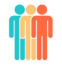 three man sign people icon vector image vector image