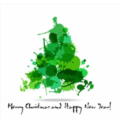 Tree blots christmas decoration vector image