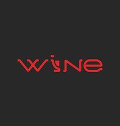 Wine logo word mockup lettering alcohol list menu vector image vector image