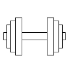 Big dumbbell icon outline style vector