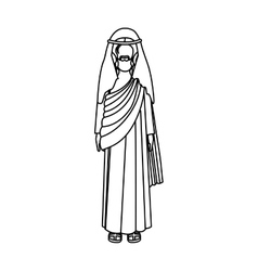 Silhouette of picture of christ with tunic vector