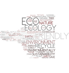 Eco-friendly word cloud concept vector