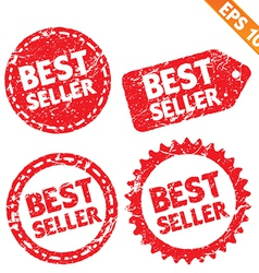 Stamp stitcker best seller product tag collection vector image