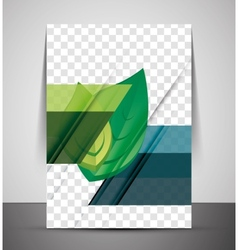 Green Nature Concept Print Template vector image