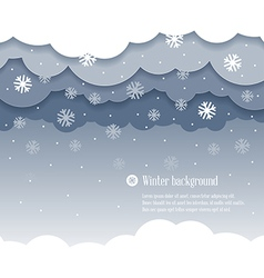 Clouds winter vector