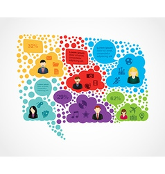 Colorful social media bubble shape vector