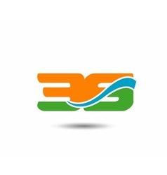39 anniversary wave logo vector image vector image