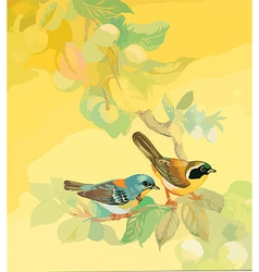 Artistic bird design vector