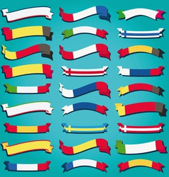 Ribbons of europe vector