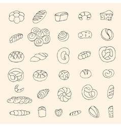 Bakery items vector