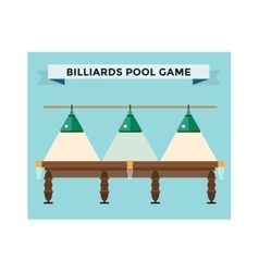 Playing billiard table concept vector