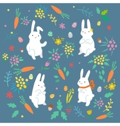 Easter funny bunny vector