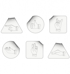 Hand icons set vector