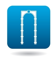 Classic arch icon simple style vector