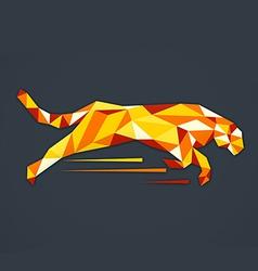 animal tiger abstract triangle logo vector image