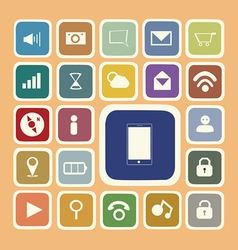 Application icons for smartphone and web sticker vector