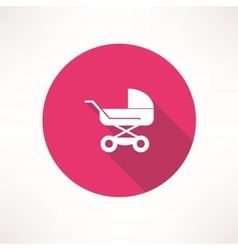 Baby buggy icon vector