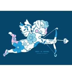 Blue and pink kimono blossoms shooting vector