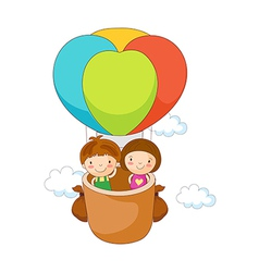 Children in the fire balloon vector