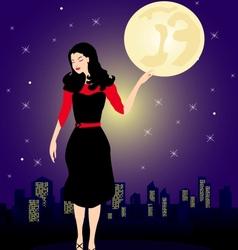 city woman vector image