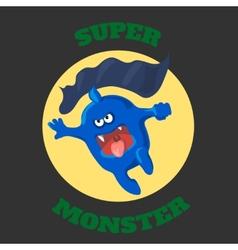 Cute monster t-shirt graphics cute cartoon vector