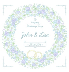 Floral wedding wreath vector