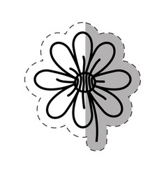 Flower garden natural monochrome vector