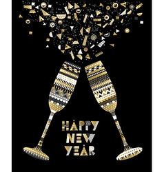 Gold new year drink toast luxury party celebration vector