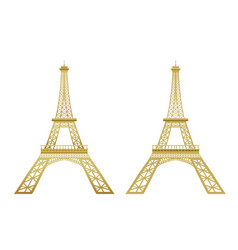 Golden eiffel tower vector