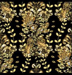 Golden seamless pattern backdrop fabric gold vector