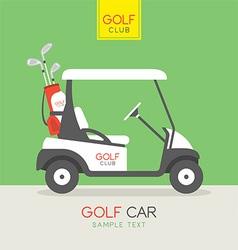 Golf car vector