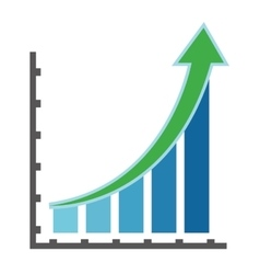 graph with arrow icon vector image