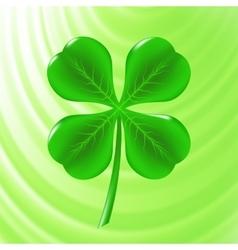 Green clover icon vector