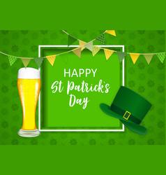 Happy saint patricks day background design vector
