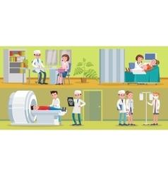 Healthcare horizontal banners vector
