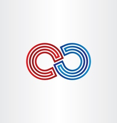 Infinity symbol icon design vector