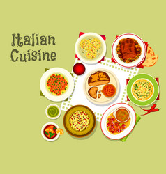 Italian cuisine tasty dinner icon design vector