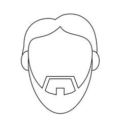 Jesus face cartoon vector
